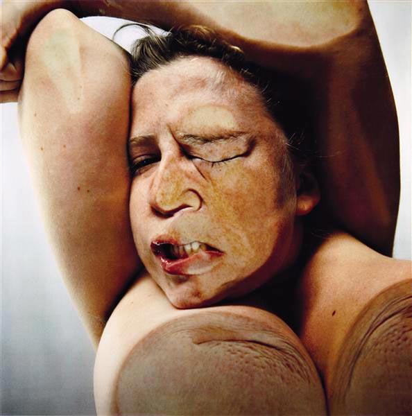 Jenny Saville & Glen Luchford, Closed Contact 8, 1995-1996, Print mounted in plexiglas