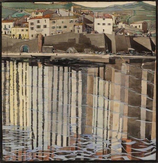 Charles Rennie, Mackintosh, La Rue du Soleil, Port Vendres, 1926, The Hunterian Museum and Art Gallery