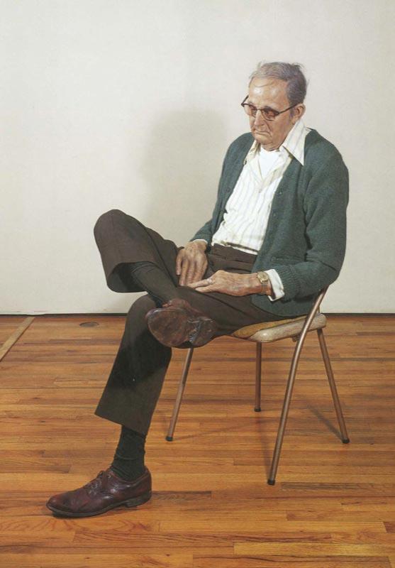 Duane Hanson, Old Man Dozing, 1976
